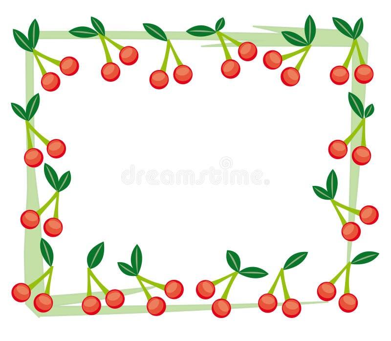 Cherry frame stock photography