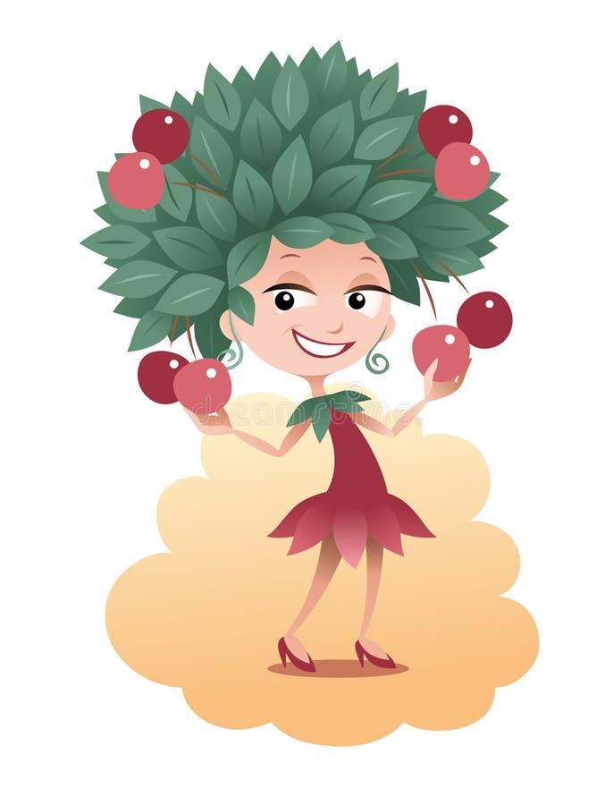 Cherry Girl Stock Vector