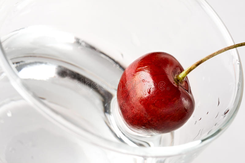 Cherry in glass royalty free stock photos