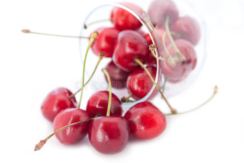 Cherry in a glass. stock image
