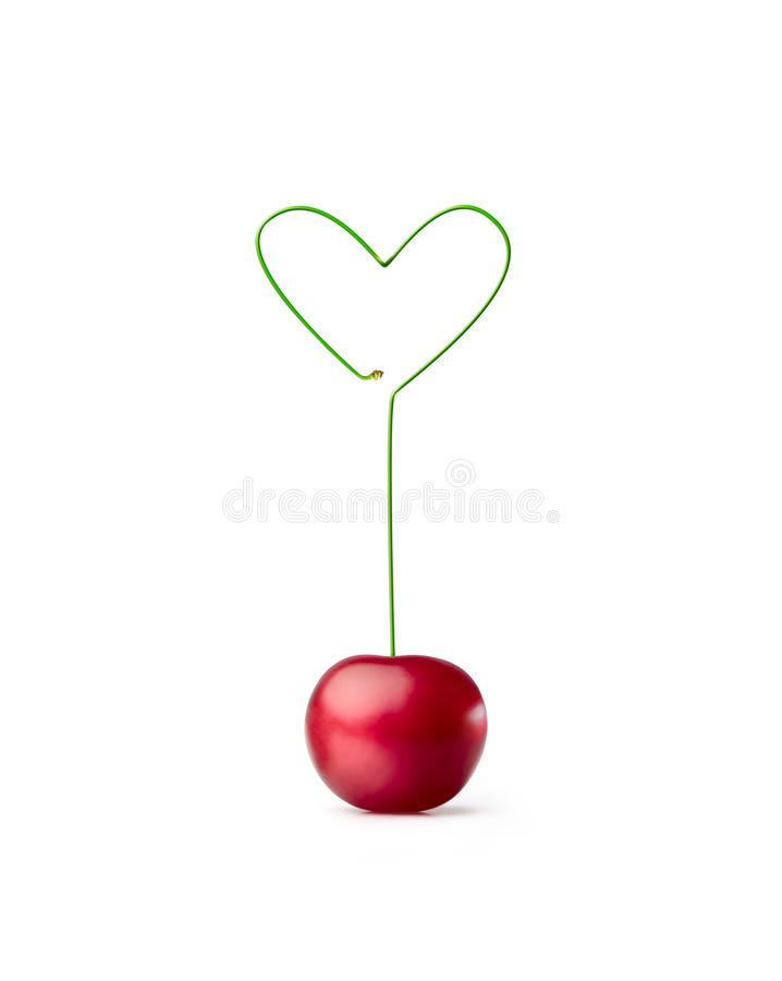 Cherry-heart stock images