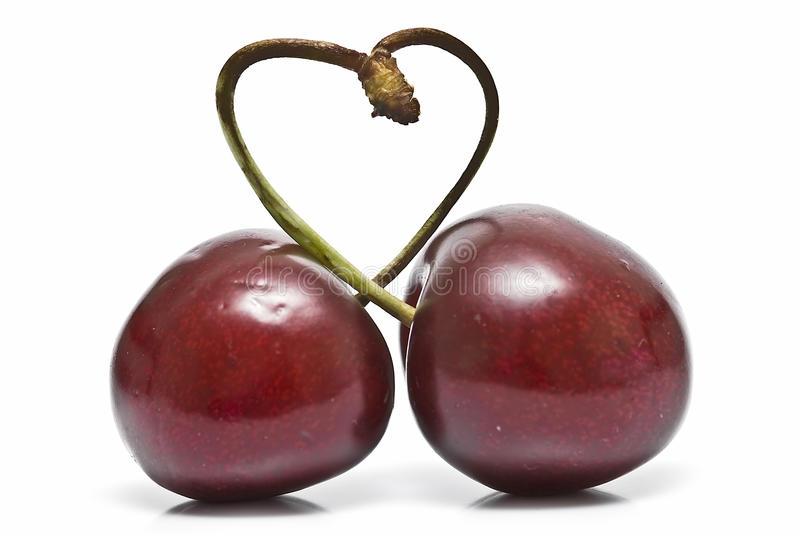 Download A cherry heart. stock photo. Image of flora, product - 14858904