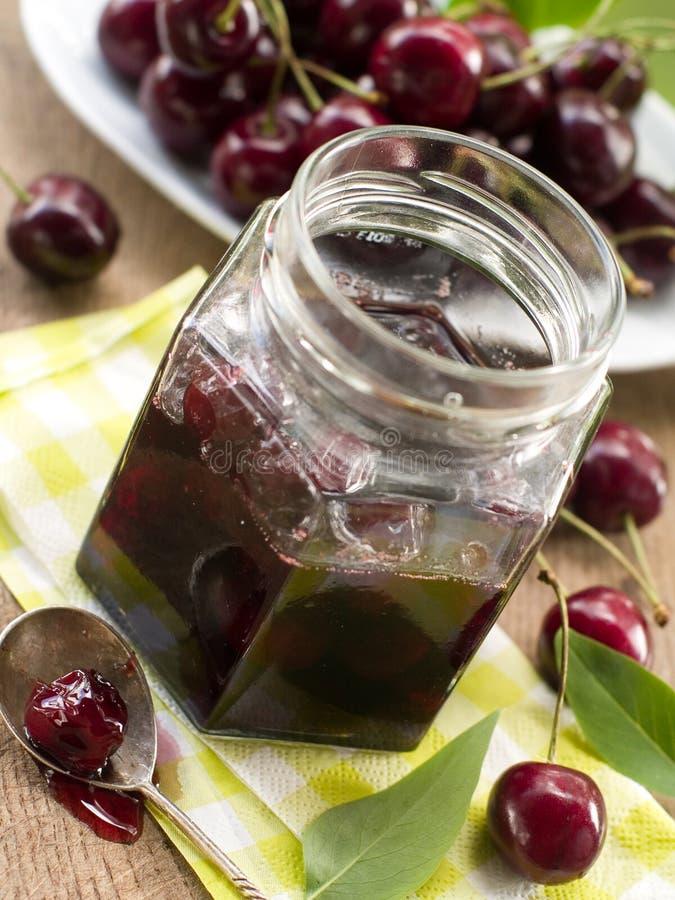 Download Cherry jam stock image. Image of bowl, marmelade, spoon - 26643063