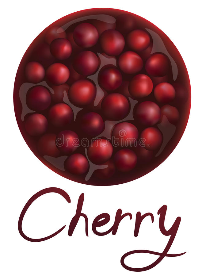 Download Cherry jam stock vector. Illustration of cherry, food - 27577215