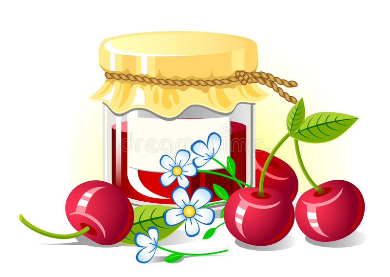 Cherry Jam libre illustration