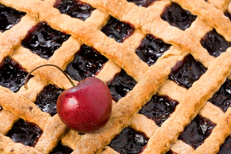 Cherry Jam Tart Closeup royalty free stock photos