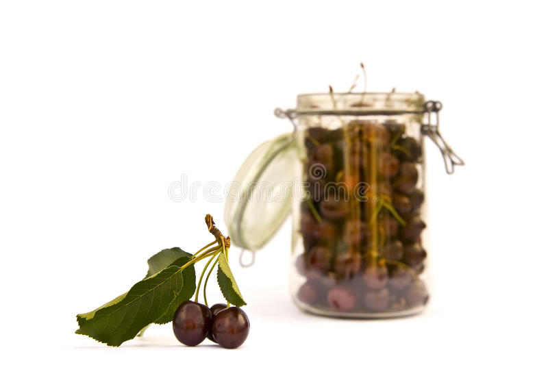 Download Cherry jar stock image. Image of compote, food, dessert - 26112275