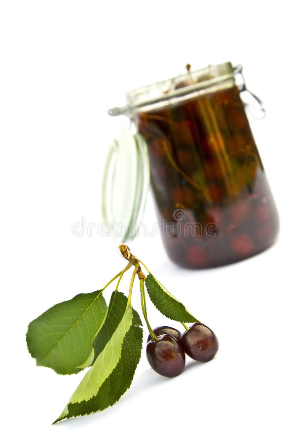Cherry Jar Royalty Free Stock Photography