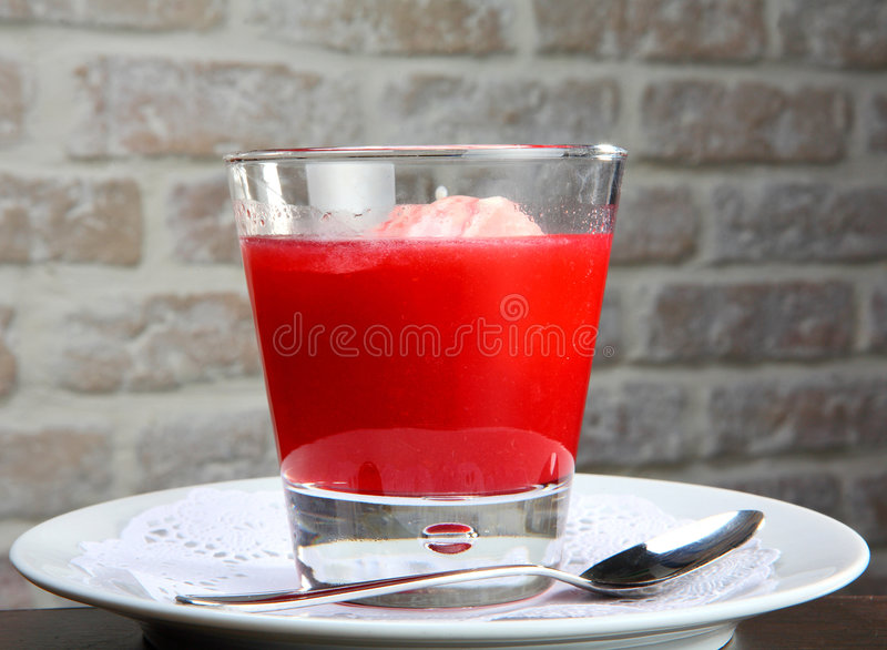Download Cherry kissel (mousse) stock image. Image of jelly, mousse - 3866033