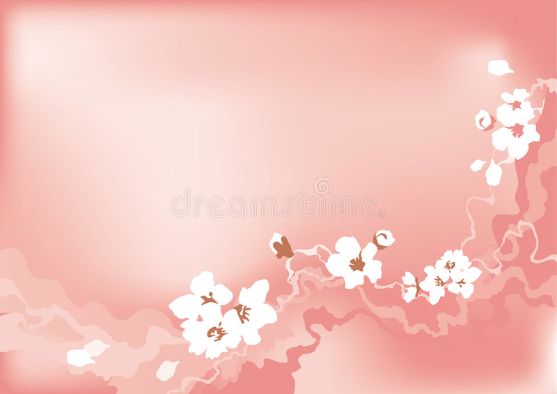cherry kwiat ilustracji