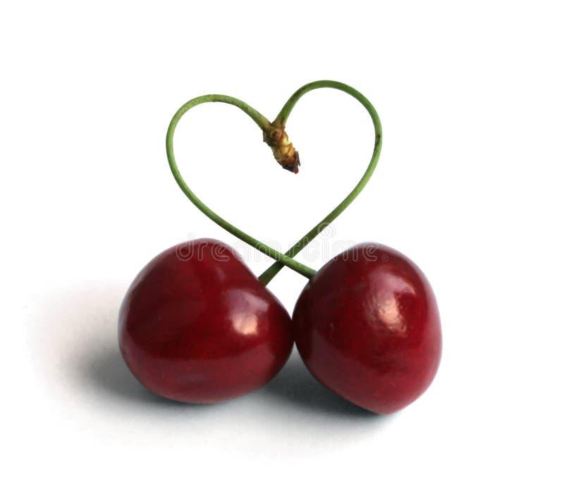 Cherry love royalty free stock photos