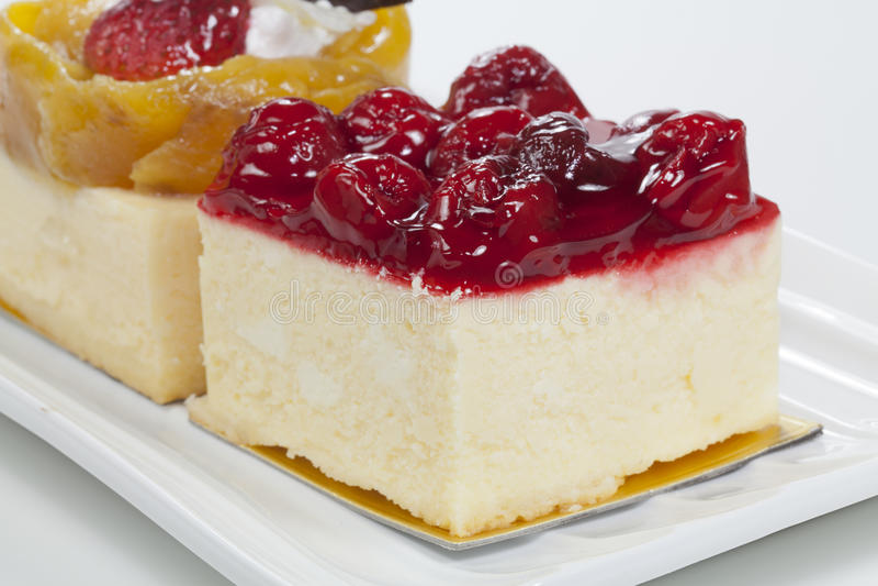 Cherry and mango bakery royalty free stock image