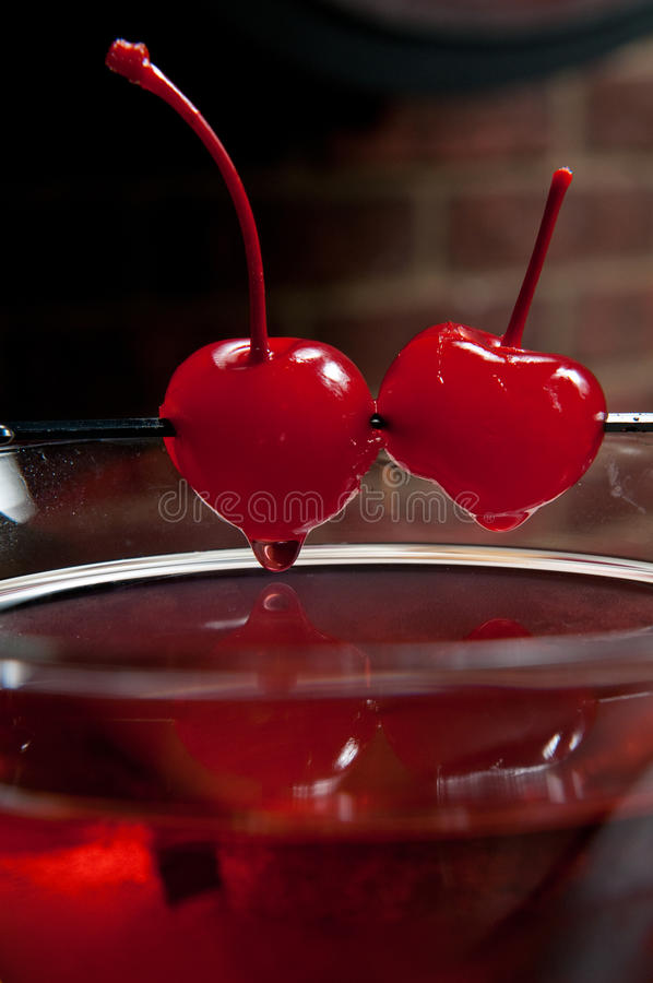 Download Cherry martini stock image. Image of nobody, drop, brick - 18568347