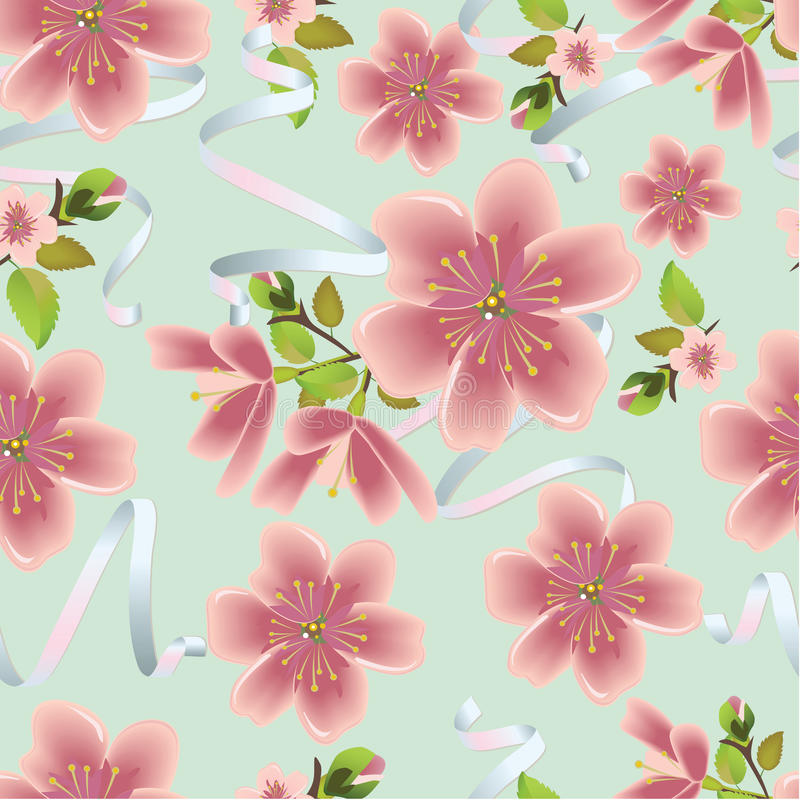 Cherry Pattern illustration stock