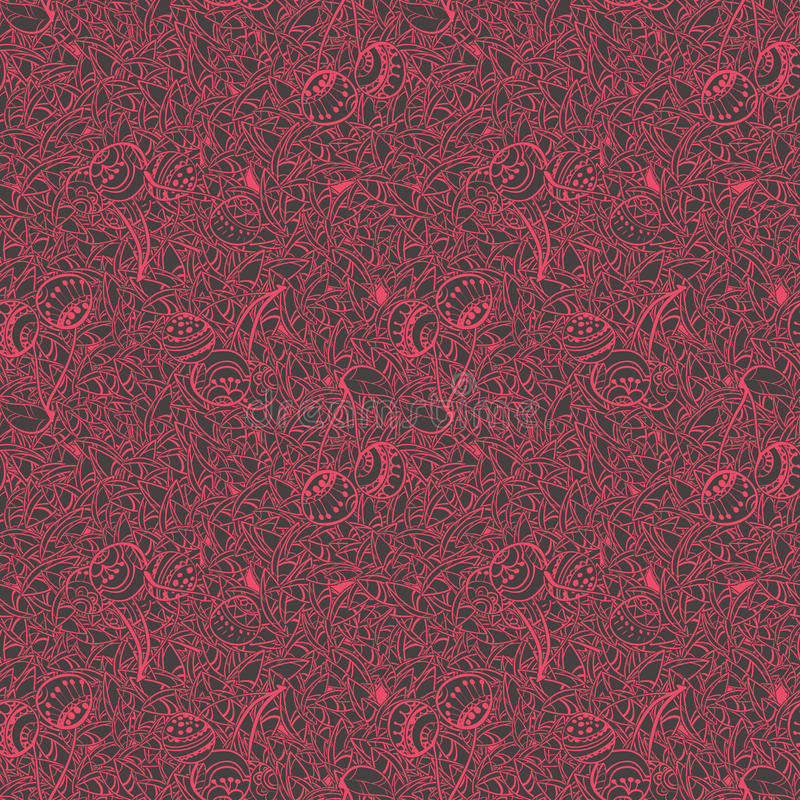 Cherry pattern drawing style stock photos