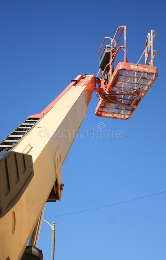 Cherry picker from below stock images