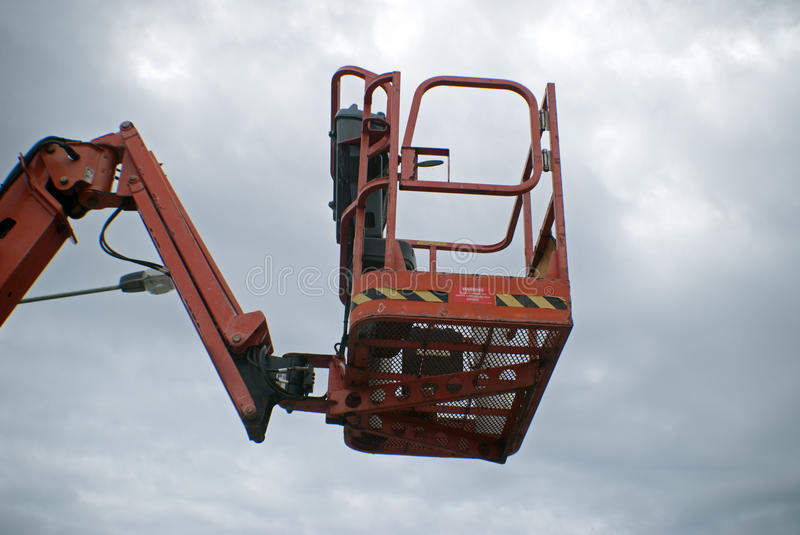 Cherry picker. High lift cherry picker with no one in it royalty free stock photos