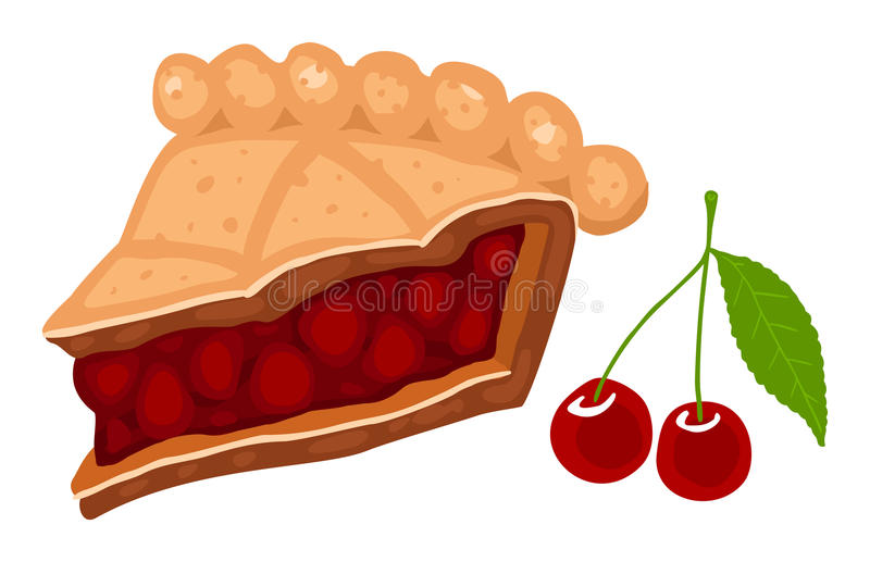 Download Cherry pie stock vector. Image of gateaux, eating, torte - 18430047