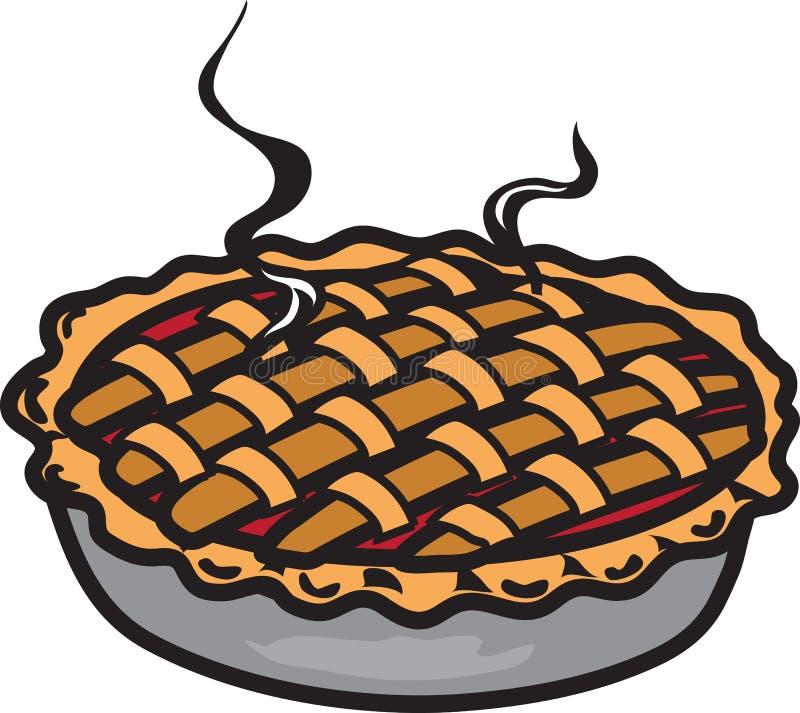 Cherry pie icon royalty free illustration