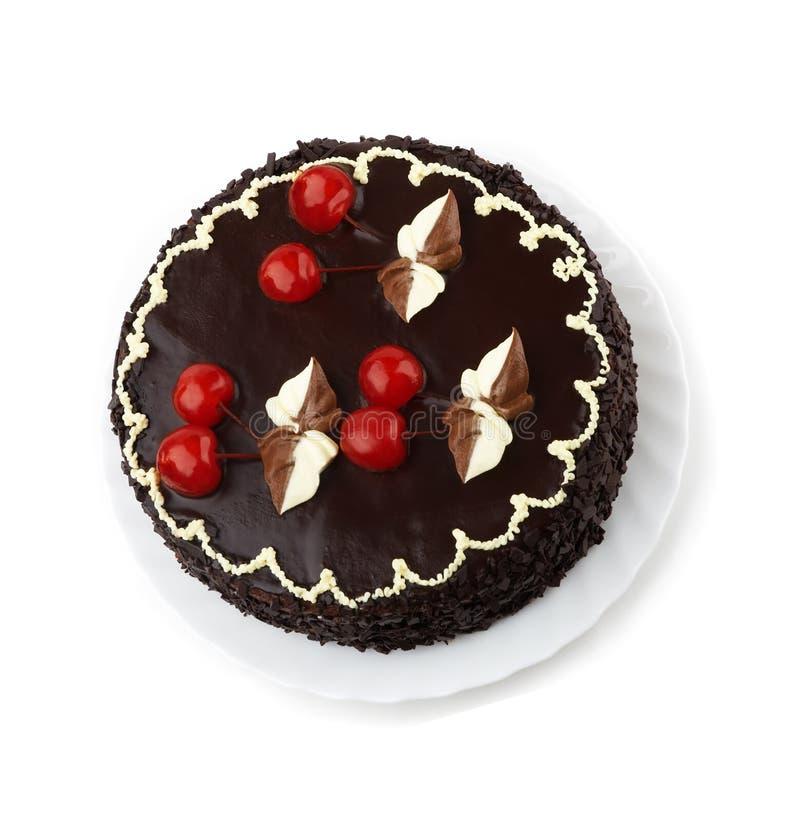 cherry pie odznaczony słodycze zdjęcie stock