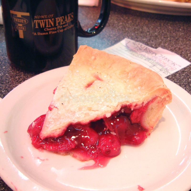 Cherry Pie Slice fotografia de stock royalty free
