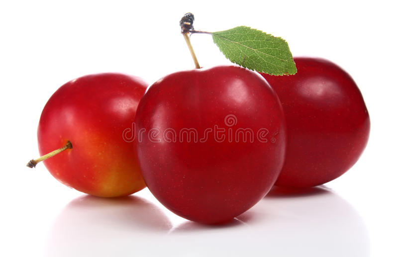 Download Cherry-plum stock photo. Image of plum, slice, white - 15292314