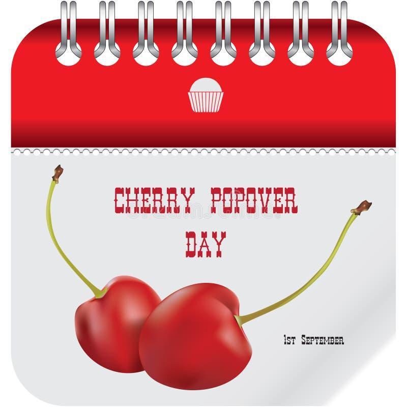 Cherry Popover Day stock illustratie