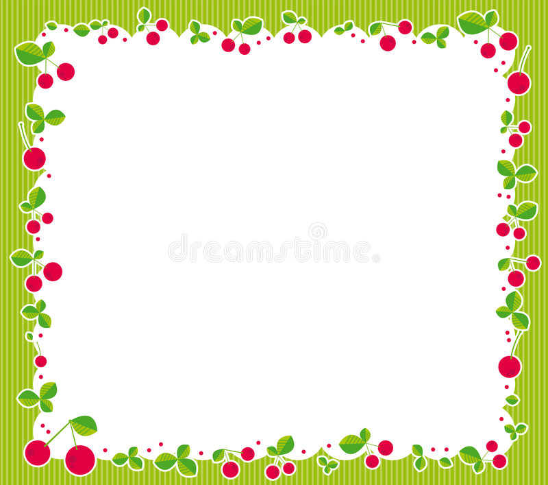 cherry rama ilustracji