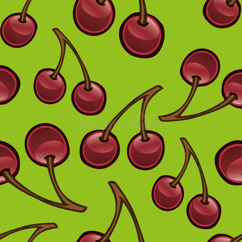Download Cherry Repeat Pattern stock vector. Image of repeat, design - 19856472