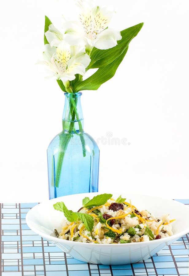 cherry ryżowa sałatkę zdjęcie royalty free