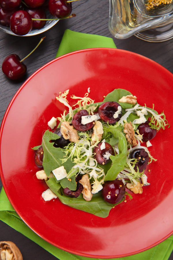 Cherry salad royalty free stock photos