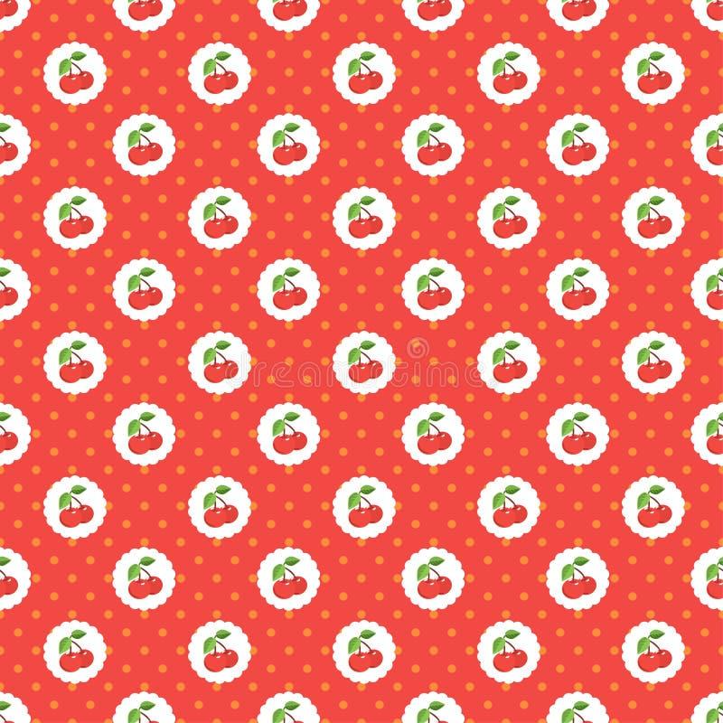 Cherry Seamless stock illustration