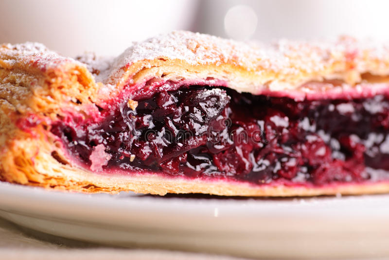 Cherry strudel royalty free stock photography