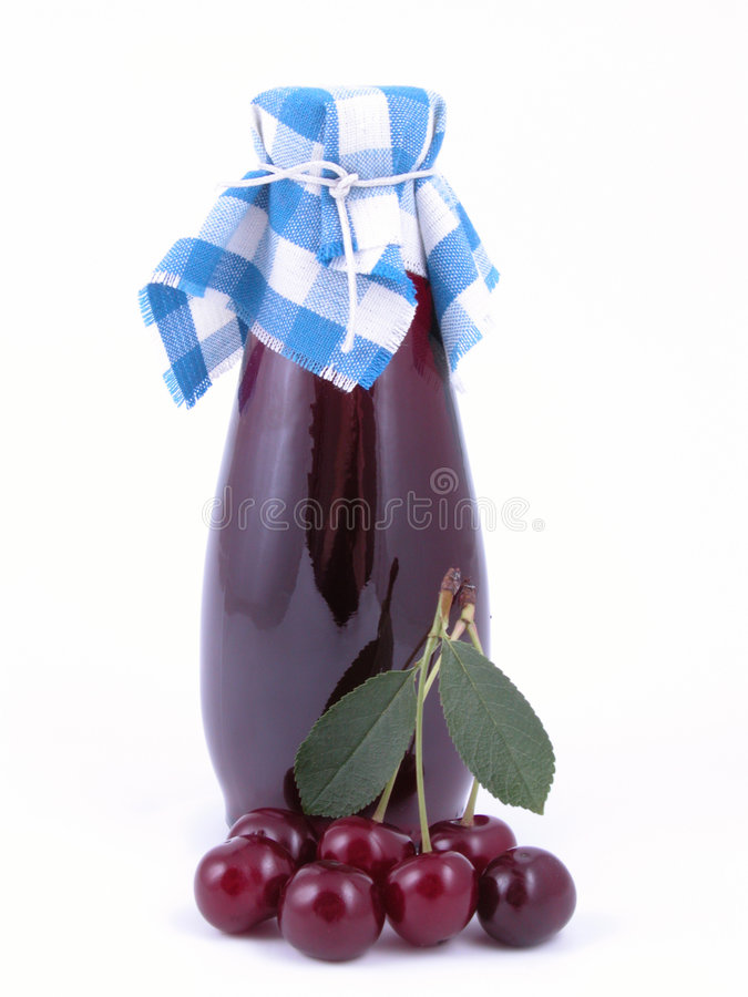 Cherry syrup stock image