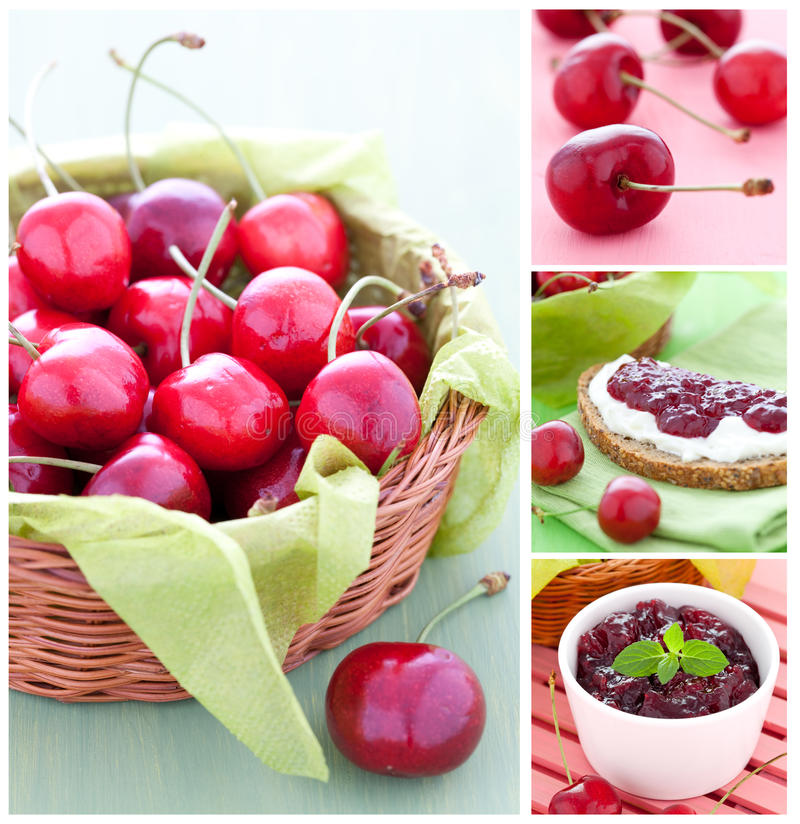 Cherry time stock image