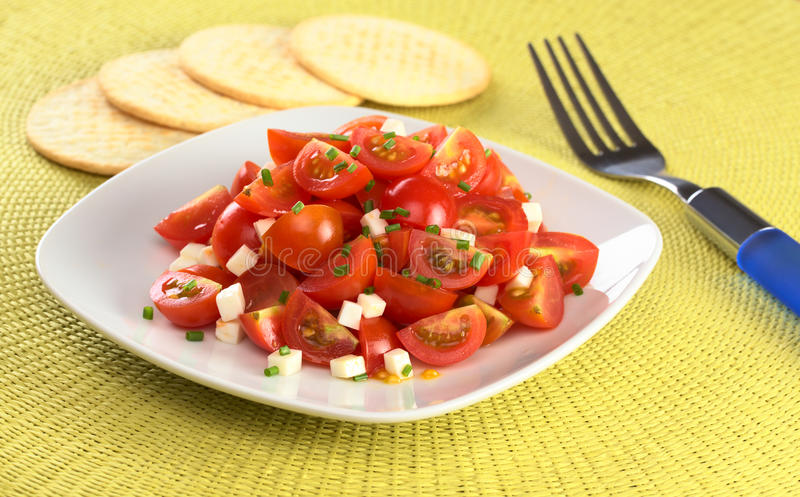 Download Cherry Tomato With Cheese And Chives Stock Photo - Image: 19937988
