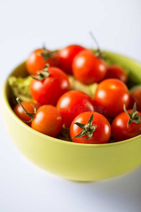 Cherry Tomatoes In Bowl Royalty Free Stock Photo