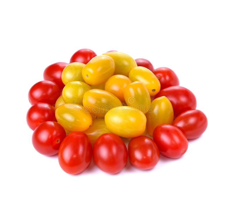 Cherry tomatoes  on white background royalty free stock image