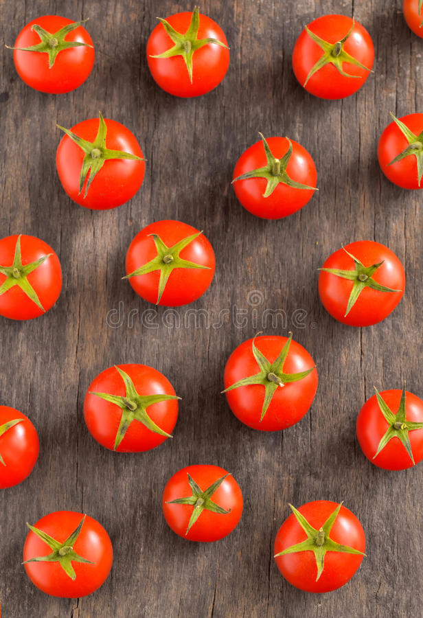 Download Cherry Tomatoes On Vintage Wooden Table Stock Image - Image: 38517889