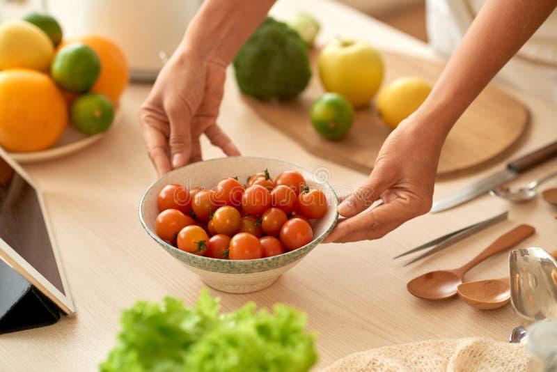 Cherry Tomatos foto de archivo libre de regalías