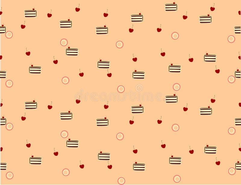 cherry tortowa royalty ilustracja