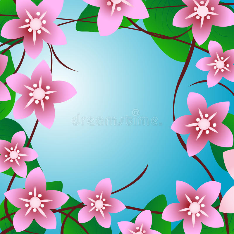 Download Cherry tree stock vector. Illustration of ornament, element - 14178659