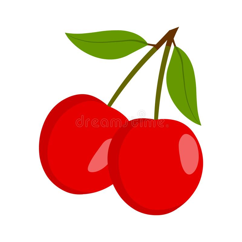 Cherry Vector Ny körsbärsröd illustration royaltyfri illustrationer