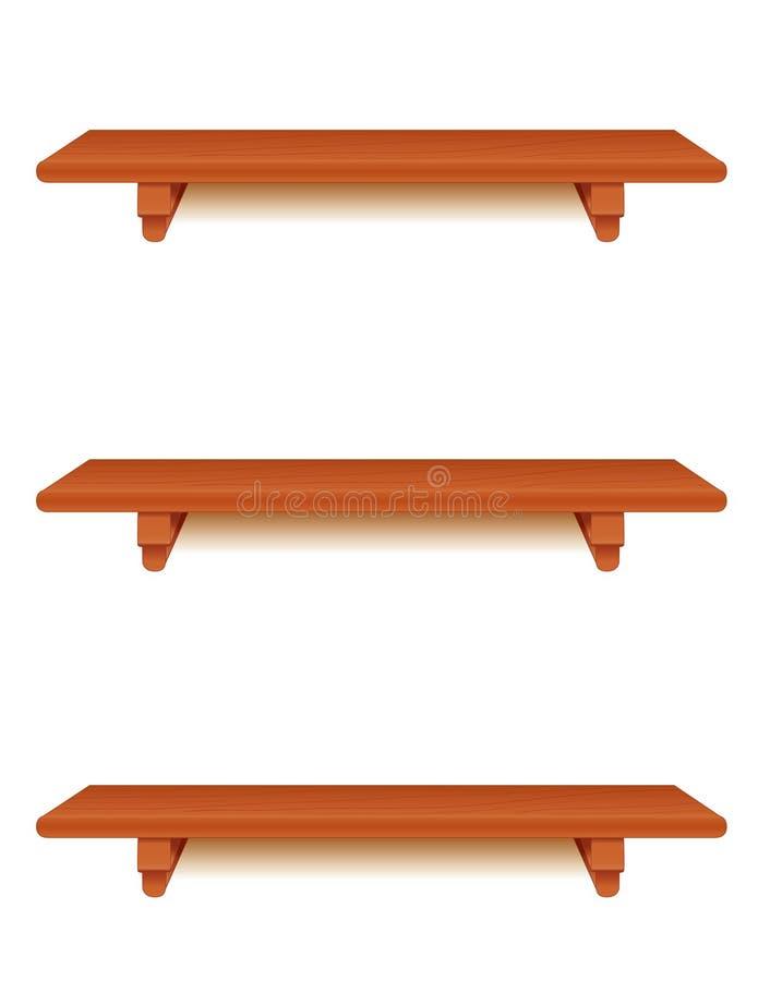 Cherry Wood Shelves stock illustration