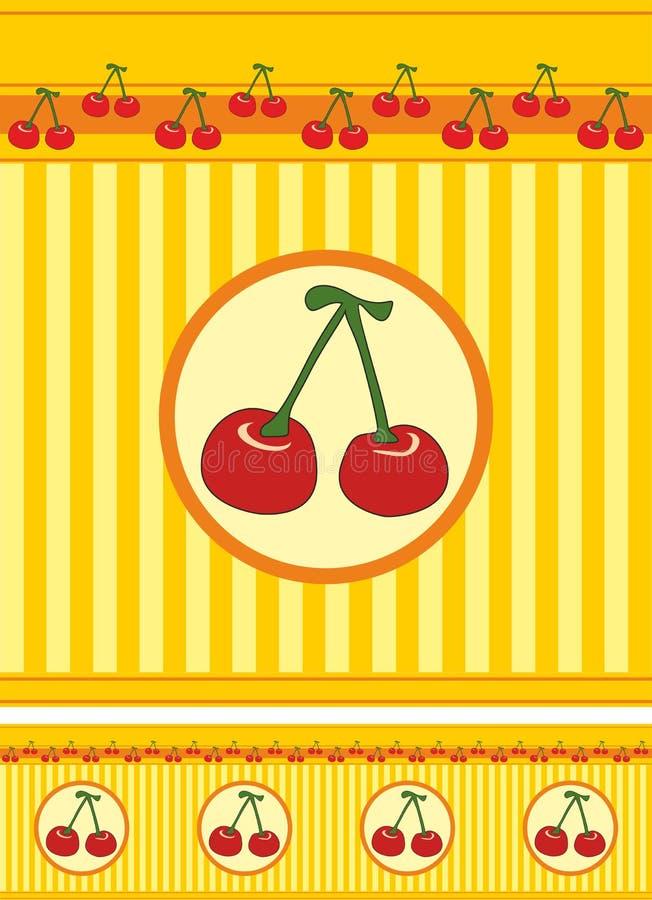 Cherryband royaltyfri foto