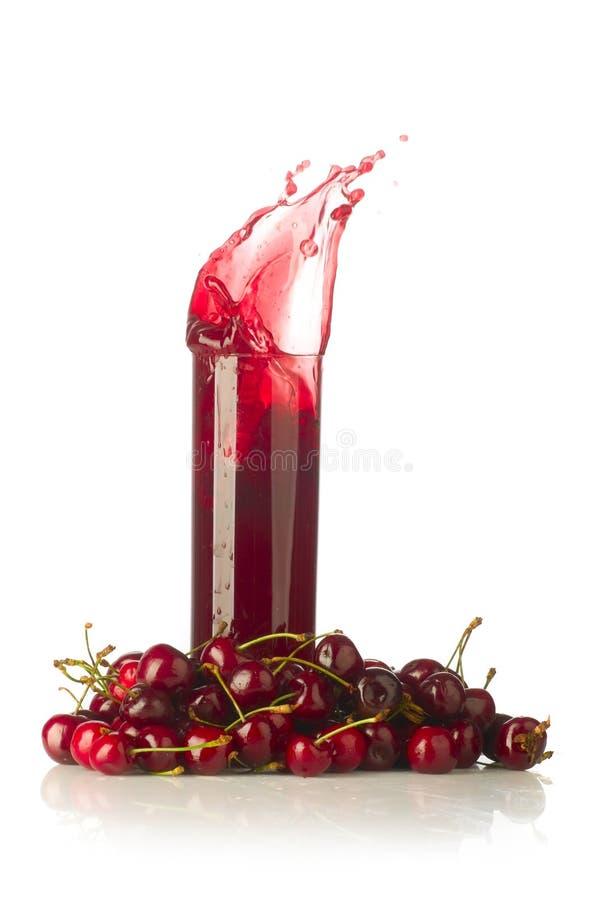 Cherryfruktsaft arkivbilder
