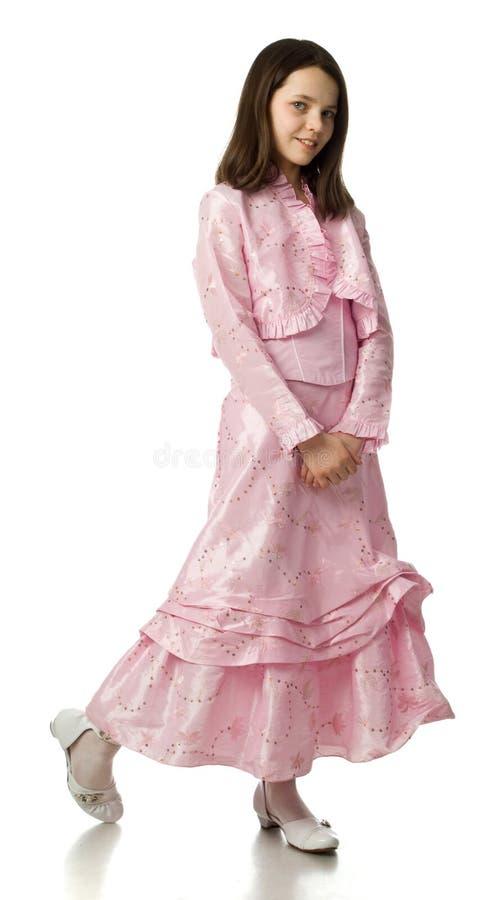 Cherryklänningflickan steg arkivbilder
