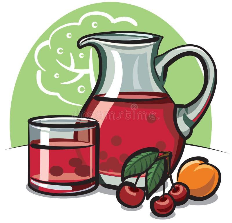 Cherrykompott stock illustrationer