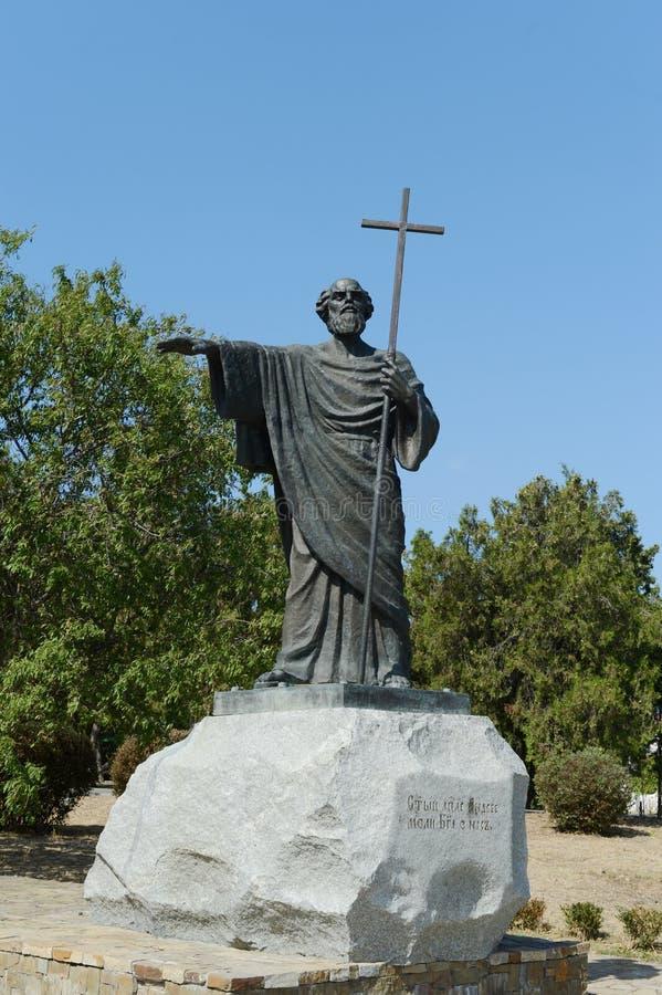 Chersonese,对传道者安德鲁的一座纪念碑 免版税库存照片