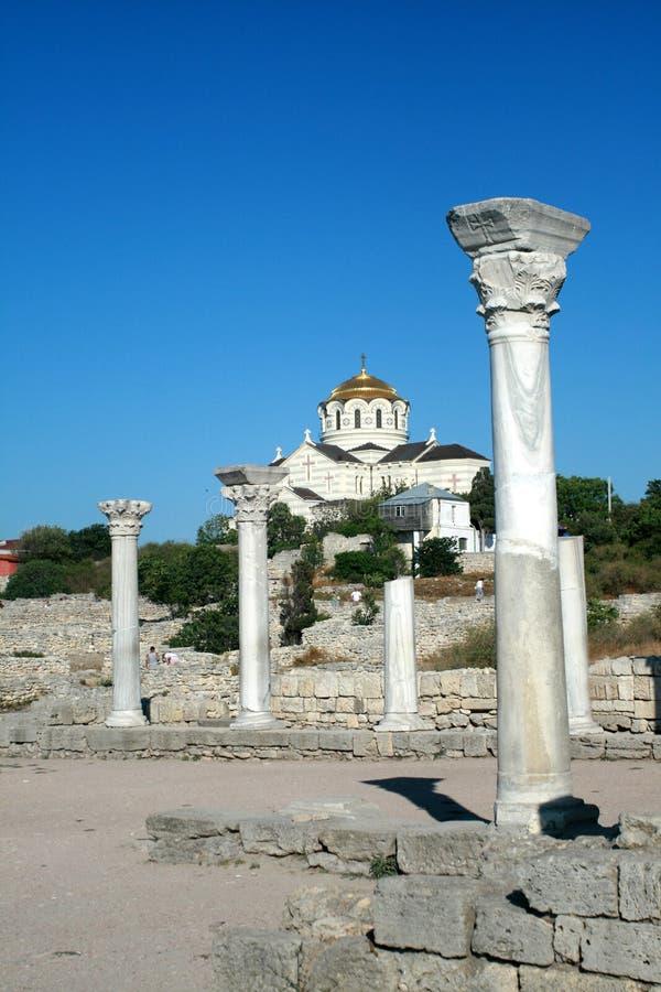 Chersonesus, Sebastopol, de Krim stock foto